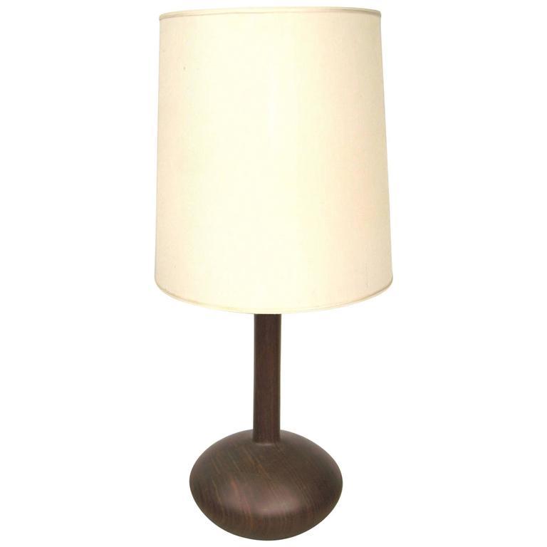 1950s mid century modern teak wood table lamp for sale at 1stdibs. Black Bedroom Furniture Sets. Home Design Ideas