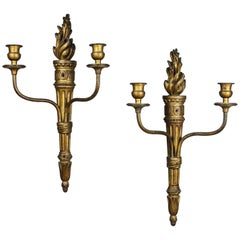 Pair of Carved Giltwood Wall Lights