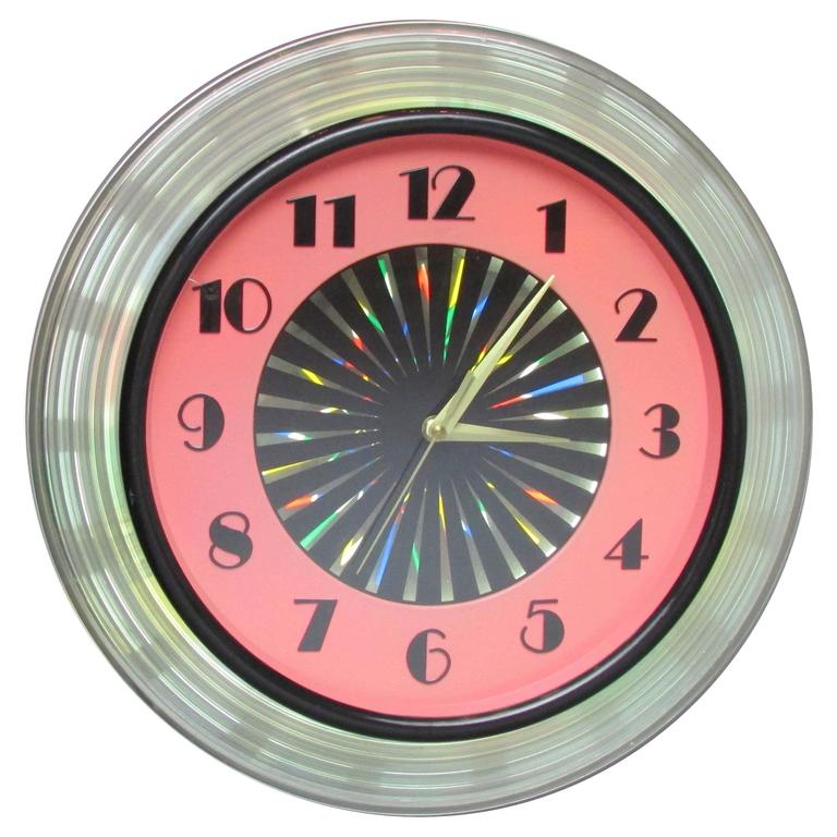 1950\'s Kaleidoscope Clock with Psychedelic Starburst at 1stdibs