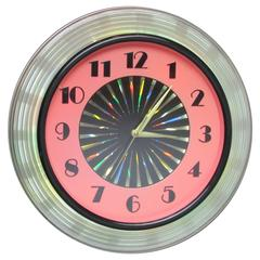 1950s Kaleidoscope Clock with Psychedelic Starburst