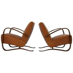 Pair of Jindrich Halabala Lounge Chairs