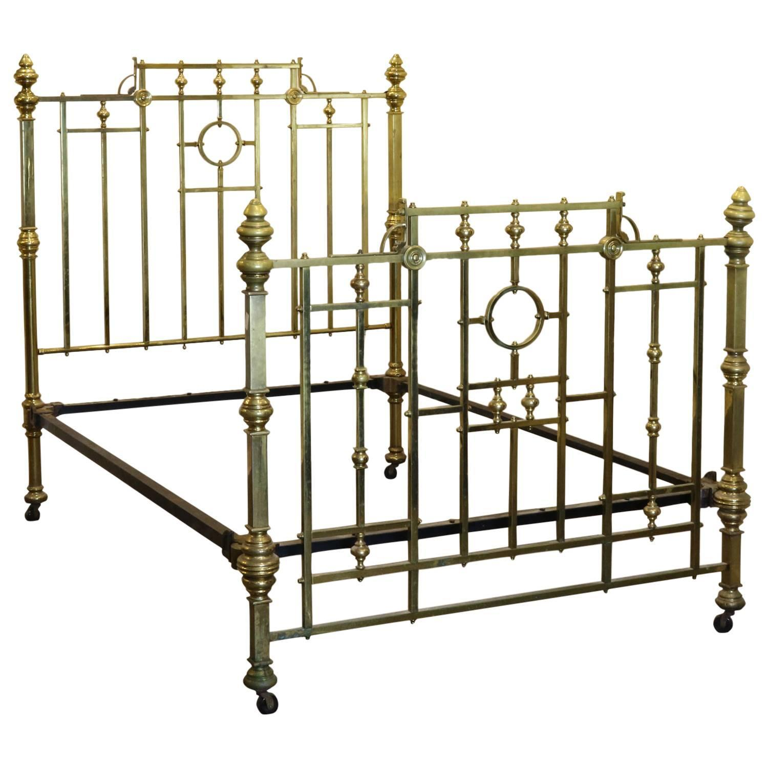 Edwardian All Brass Bed, MD38 For Sale at 1stdibs