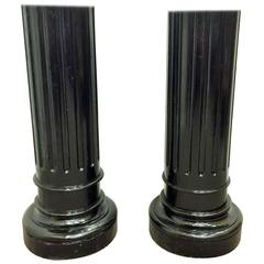 Pair of Ebonized Fluted Columns, Louis XVI Period