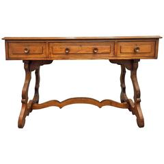 19th Century Spanish Console. Desk with drawers