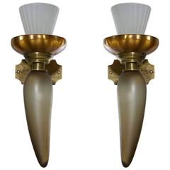 Pair of Italian Sconces, circa 1950s