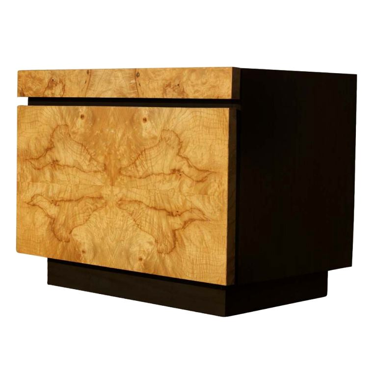 Burled Olivewood Night Stand