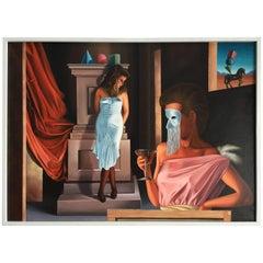 Oil by Vidal Jimenez, Spain, 1960 Pop Art