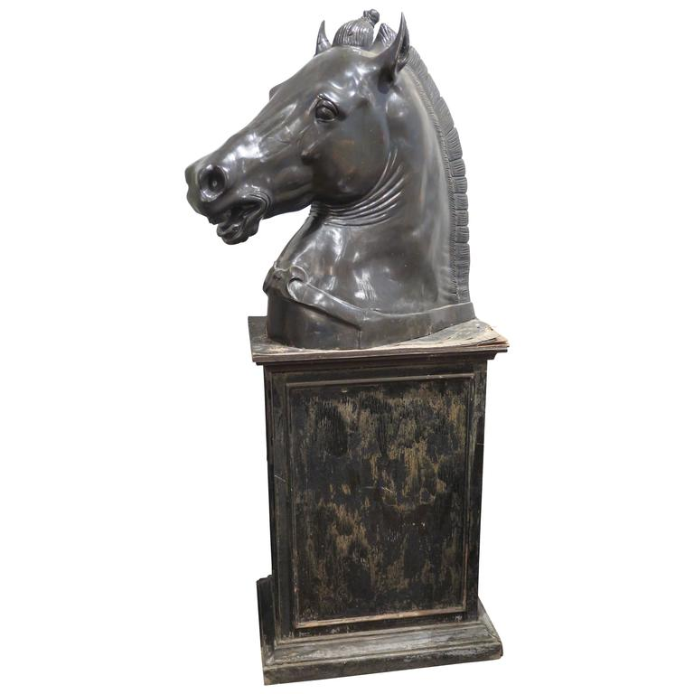 Incredible Large European Sculpture of Horse 19th Century