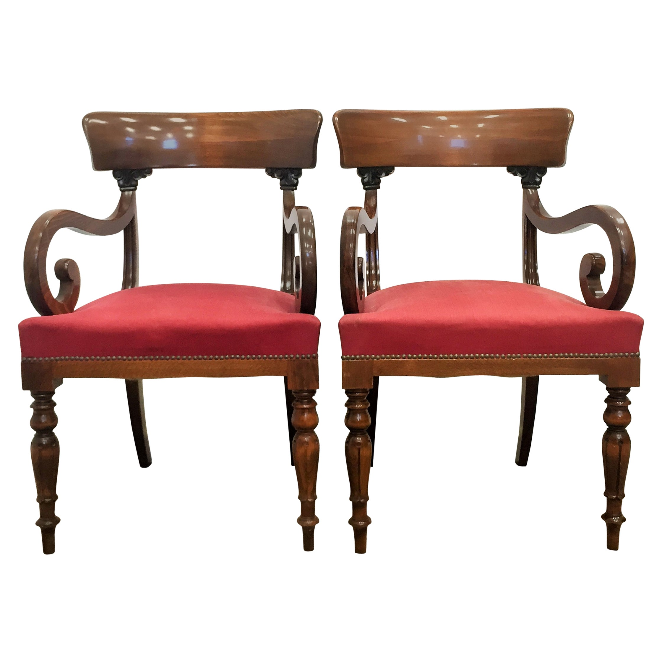 Pair of Swedish Empire Armchairs