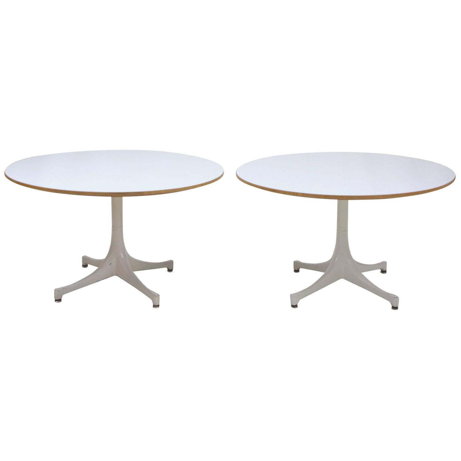 George nelson swag leg end tables pair for herman miller for Nelson swag leg table