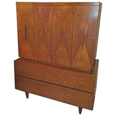 Mid Century Modern Highboy attributed to American of Martinsville