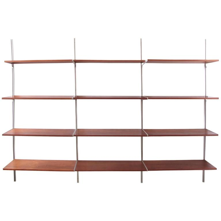 george nelson css wall mounted shelf for herman miller 1960s at 1stdibs. Black Bedroom Furniture Sets. Home Design Ideas
