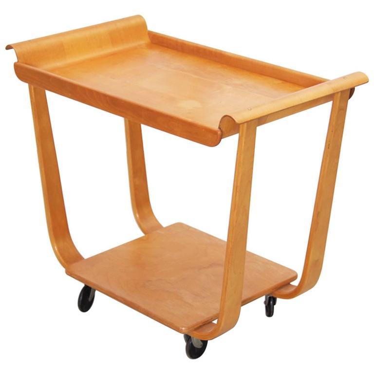 Cees Braakman Tea Cart for Pastoe in Birch Plywood