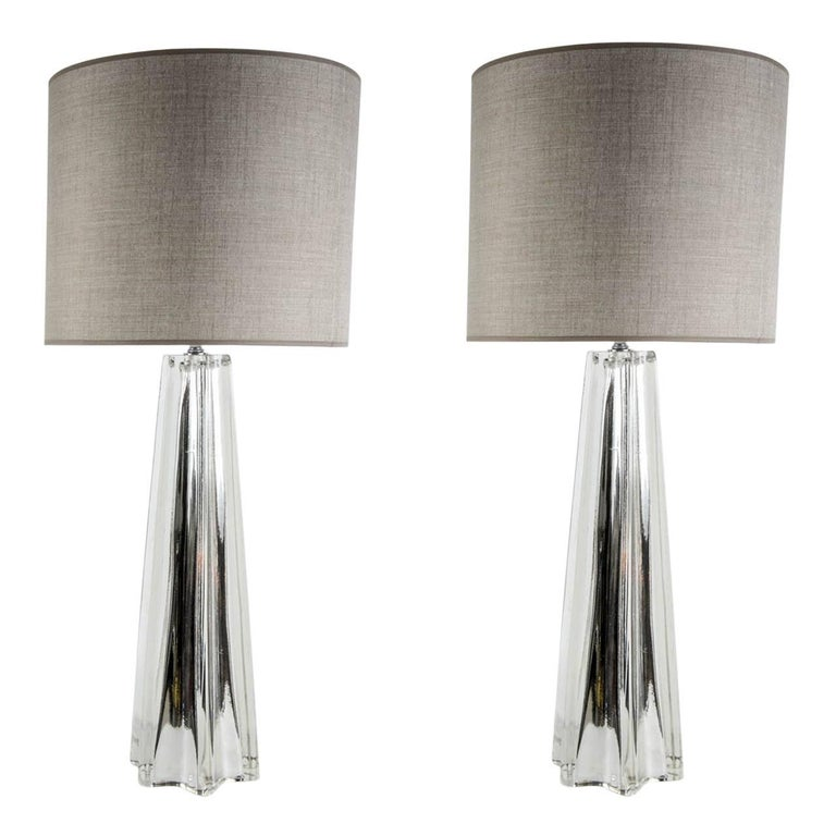 Beautiful Pair of Eglomized Table Lamps 1