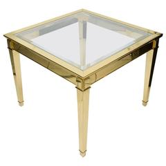 Large and Elegant End Table in Bronze, circa 1980