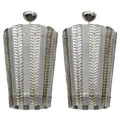 Gorgeous Pair of Murano Glass Lanterns
