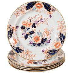 Set of a Dozen Davenport Dessert or Salad Dishes in the Imari Style