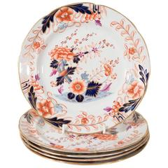 Set of a Dozen Davenport Dishes in the Imari Style