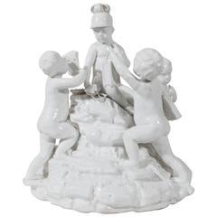 Antique Hochst Porcelain Höchster Porzellan Gruppe des Handels