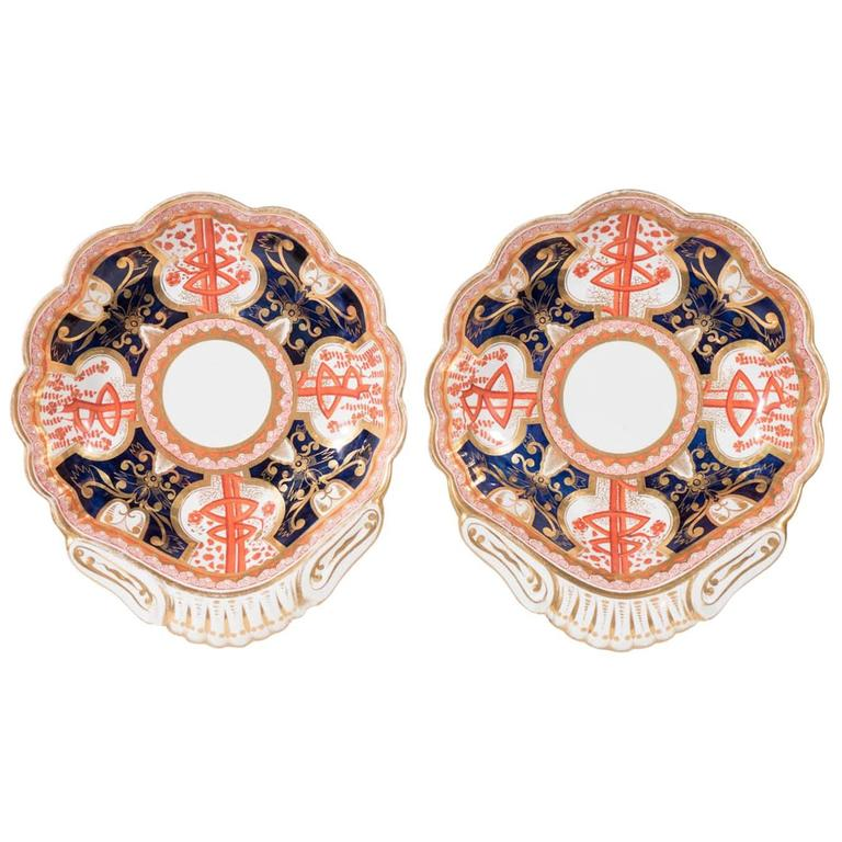 Pair Dollar Pattern Shell Shaped Dishes