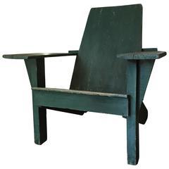 Antique American Adirondack Chair