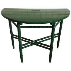 Vintage Green Painted Demilune