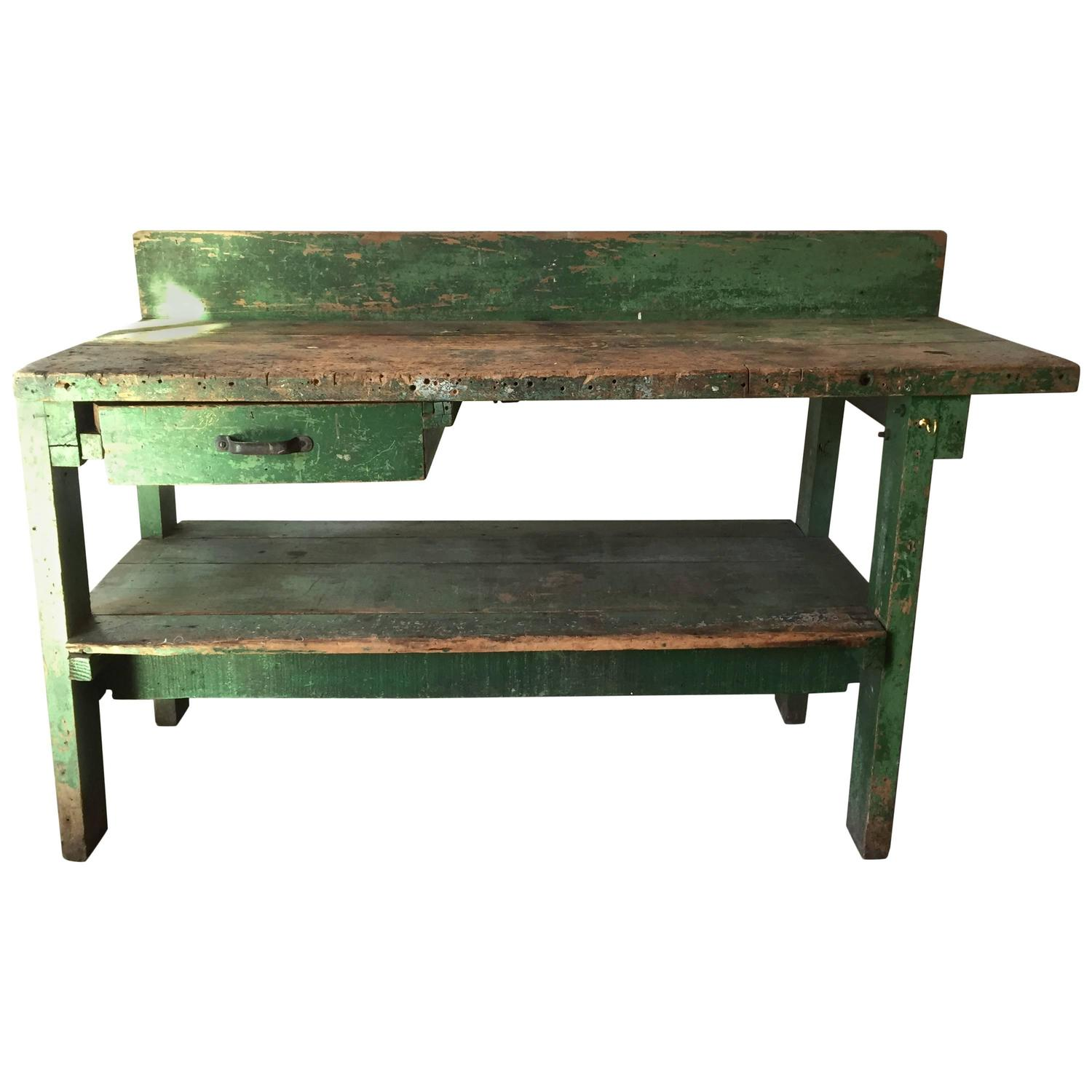 large work bench american 19th century for sale at 1stdibs. Black Bedroom Furniture Sets. Home Design Ideas