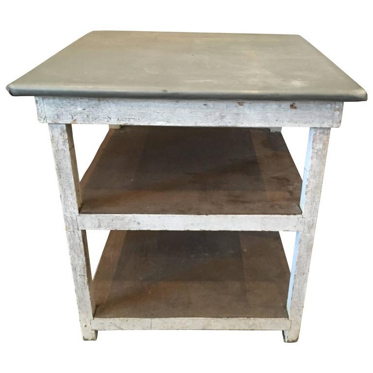 Vintage Metal Top Table