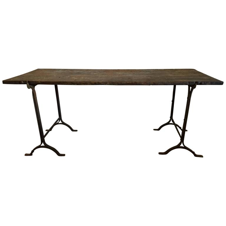 19th Century English Trestle Table