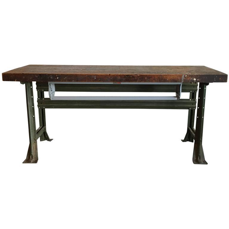 Industrial Work Table, American, 1920s