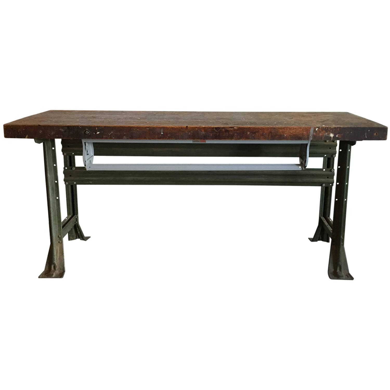 industrial work table american 1920s for sale at 1stdibs. Black Bedroom Furniture Sets. Home Design Ideas