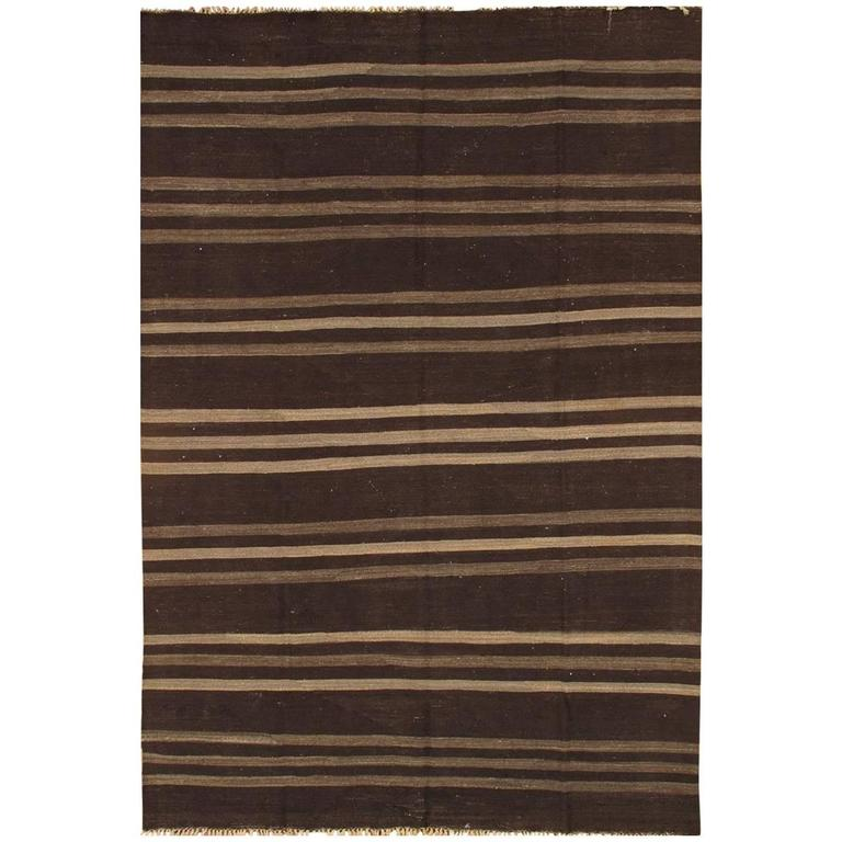 Nice looking modern striped kilim rug for sale at 1stdibs for Nice rugs for sale