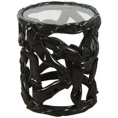 Black Ribbon Table in Lucite