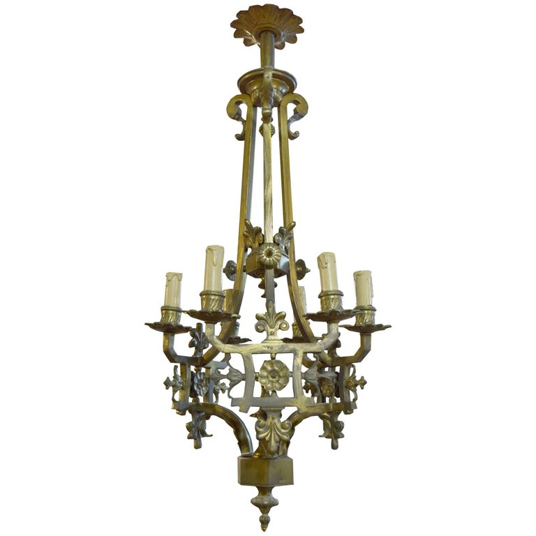 Argentine Bronze Chandelier For Sale