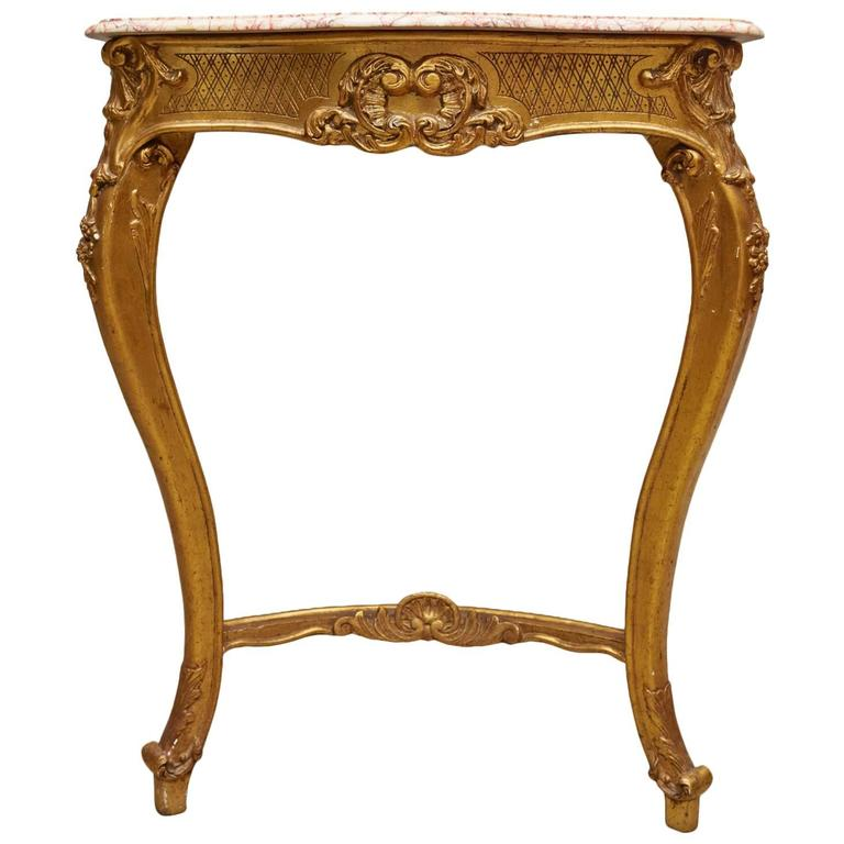 19th Century Marble-Topped Console