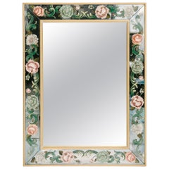 Floral Églomisé Mirror