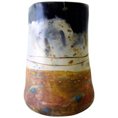 Bennett Bean Ceramic Large Scale Vessel With Butterfly Accents