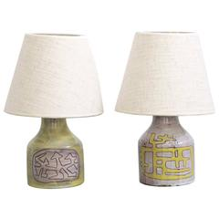 Pair of Ceramic Table Lamps by Juliene Derel Rivier