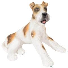 Mid-Century Italian Ceramic 'Terrier' Dog Sculpture