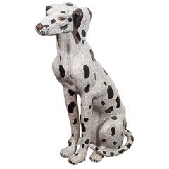 Chinese Cloisonne Dalmatian Dog Statue