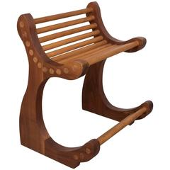 Curved Wooden Dowel Chair