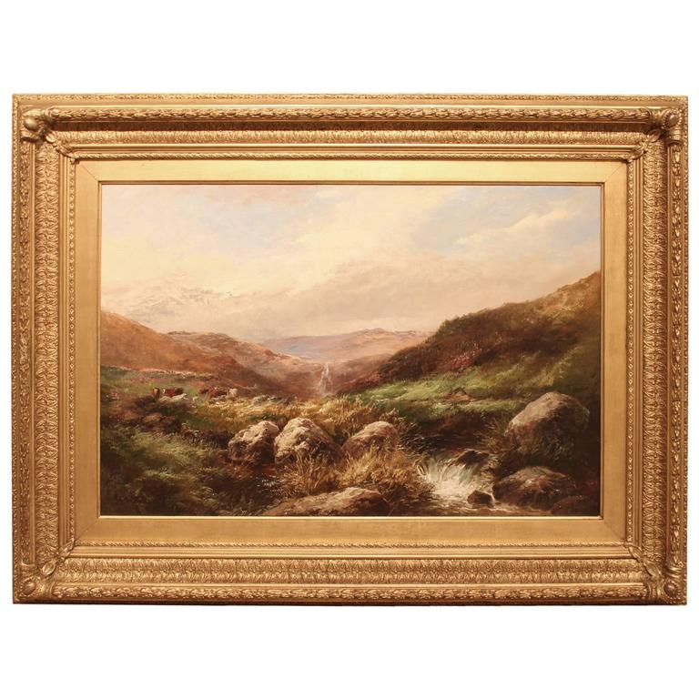 """A Dartmoor Stream"" Oil Painting by George Henry Jenkins"