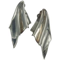 Vintage Italian  Ottaviani Silver  Earrings