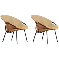 Two Cocktail Chairs Attributed to Auböck, Vienna, 1950