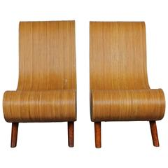 Unique Pair of Mid-Century Modern Bamboo Chairs