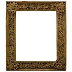 Large Elaborately Carved Chinese Style Frame, France, 19th Century