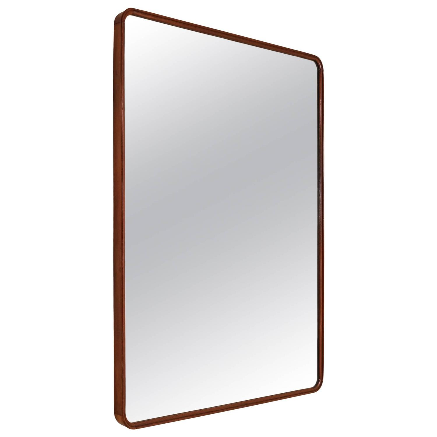 Extra large rectangular wall mirror with mahogany frame for Extra large mirrors