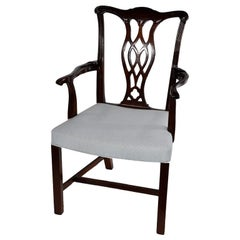 Set of Four Wood Armchairs