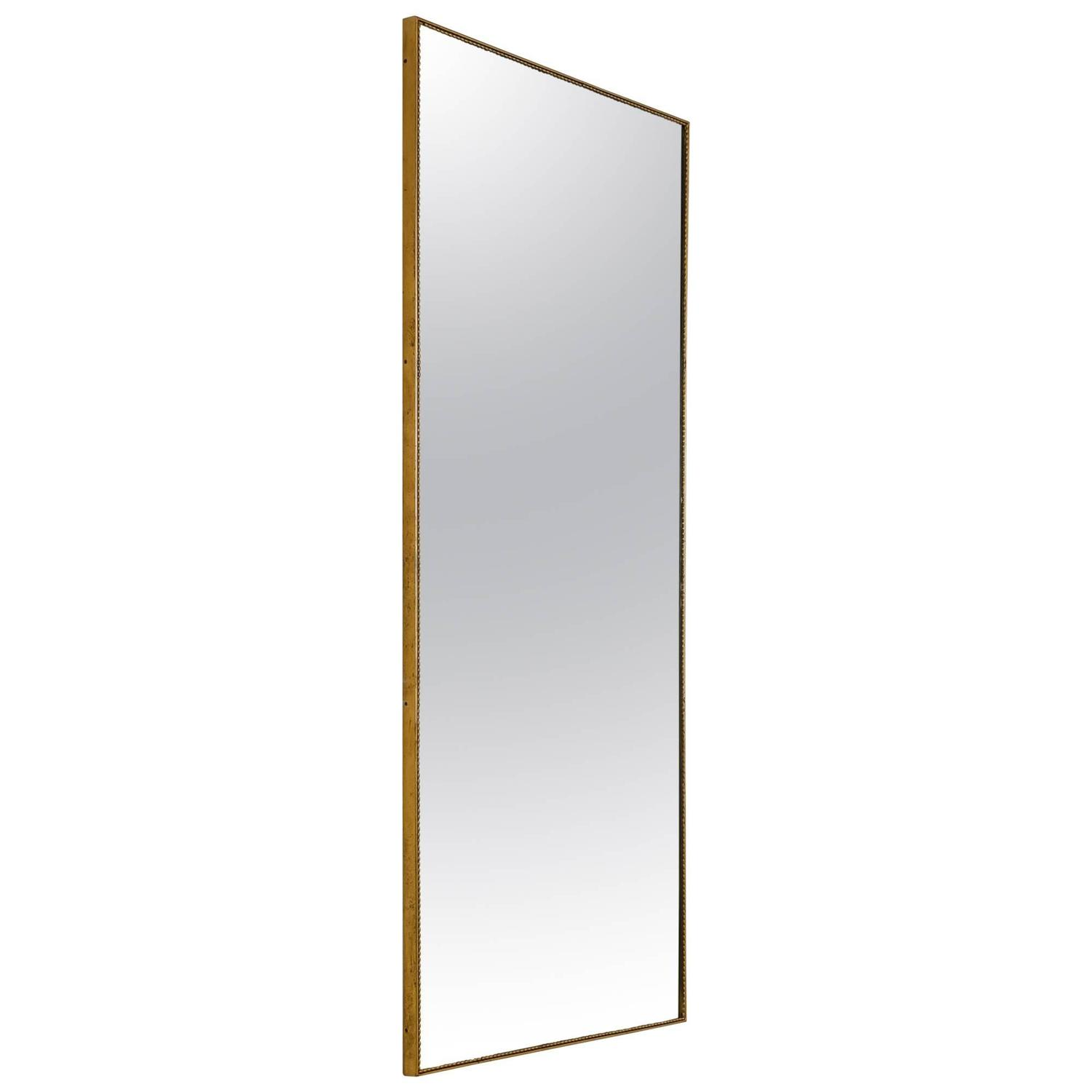 Mirrored framed mirror small multi faceted wall mirror for Small long mirrors