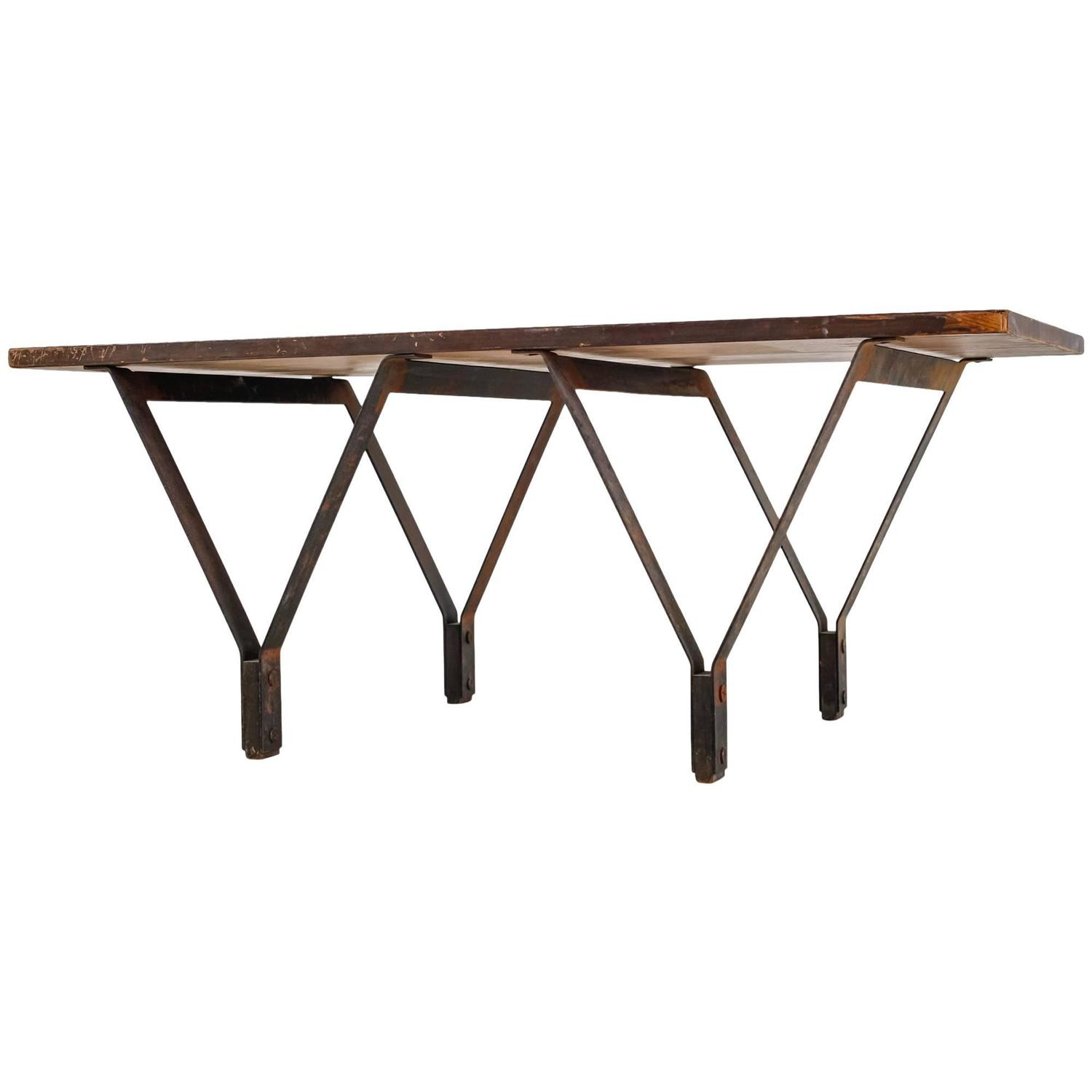 Marvelous photograph of BBPR Metal and Wood Coffee Table Italy 1950s For Sale at 1stdibs with #9E5F2D color and 1500x1500 pixels